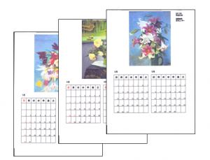 Aさん(男性72歳)の作品、カレンダーです!
